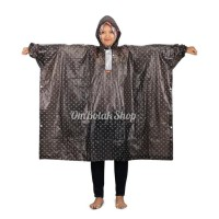 Jas Hujan Polkadot 713 Elmondo Poncho Lengan Motor Rain Coat Wanita -