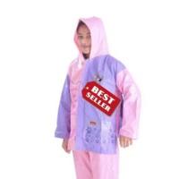 Jas Hujan/Mantol/Mantel Setelan Anak Remaja Sekolah Backpack Murah -