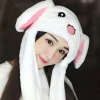 Led Bunny Hat/ Topi Kelinci Led/Dancing Led Hat/ Bulu Halus Import -
