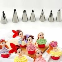 Set 7 pcs spuit korea renda dekorasi kue spuit rok barbie kw wilton