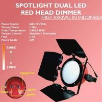 Spotlight LED Red Head 100watt Video Light Studio Lighting Lampu