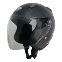 Helm Half Face YCN CR Cargloss Visor Hardcoat - Gun Metal