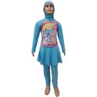 Baju Renang Muslim Anak TK Rok L Little Pony Unicorn Kuda Poni 1