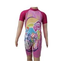 Baju Renang Diving Anak TK Cewek XL Little Pony Unicorn Kuda Poni