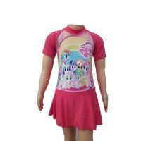 Baju Renang Diving Anak Cewek TK Rok L Unicorn Kuda Poni Little Pony 2