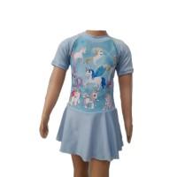 Baju Renang Diving Anak Cewek TK Rok L Unicorn Kuda Poni Little Pony 1