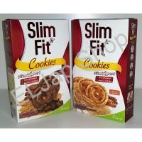 Kue / Cookies Slim and Fit by Kalbe Isi 10 Sachet Rasa Dark Chocolate