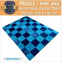 Karpet Bulu Rasfur Motif Full Color Karpet Custom Warna Karpet Karakte