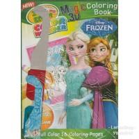 Buku Mewarnai 3 Dimensi - Frozen