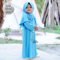 Setelan Baju Muslim Anak Perempuan Bayi Balita Gamis Falisha & Hijab