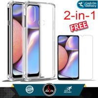 Case Samsung A10s Soft Case Anti Crack Free Tempered Glass