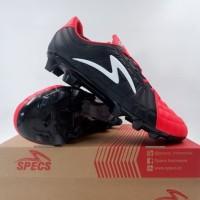 Sepatu Bola Specs Barricada Kaze FG Emperor Red Black 101083 Ori