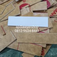 Papan Nama Dada Akrilik Acrylic Papan Name Tag 2cm x 8cm Acrylic Putih
