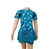 Baju Renang Diving Wanita Anak TK Rok XL Motif 1