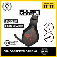 Headshet Headphone Gaming Pulse 7 Mobile Armaggedon