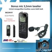 Sony ICD - PX470 DIgital Voice Recorder / PX 470 Perekam PLUS EXT MIC