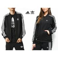 Jaket Bomber Adidas Superstar 3 Stripes White UNISEX Black