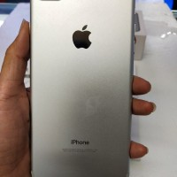 IPHONE 7 Plus 128 Gb silver Mulus Fullset Ori Bergaransi Gosend Ready