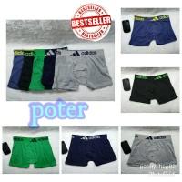 celana dalam boxer Cd pria dewasa brief M L XL adidas dan remaja