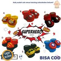 TokoDedee - Kaos Kaki Rattle Boneka Karakter Super Hero/kaos kaki bayi