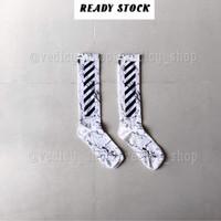 PREMIUM OFFWHITE MARBLE KAOS KAKI WHITE ( OFFWHITE SOCKS )