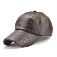 Topi Kulit Baseball Cap import Jamont TK03