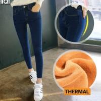 Celana Musim Dingin Jeans Wanita / Long John Jeans Pants 003