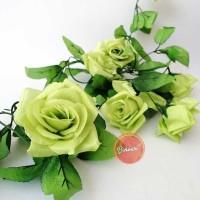 Bunga Mawar Rambat Plastik Bunga Rose Artificial Bunga Palsu - AF14