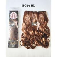 kimiko hairclip biglayer curly blonde / pirang panjang 60cm BC60 BL