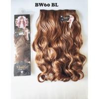 kimiko hairclip biglayer wavy gelombang blonde panjang 60cm BW60 BL