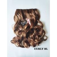 kimiko hairclip CURLY BL blonde pirang 60cm