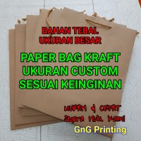 Paper Bag Kraft Tebal Besar - Paperbag - Kantong Kertas - Uk. Custom