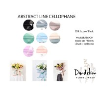 FLOWER WRAPPING ABSTRACT LINE COLOR CELLOPHANE KERTAS BUNGA (ECER)