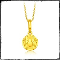 Marvel Collection Spiderman Symbolize Gold Pendant