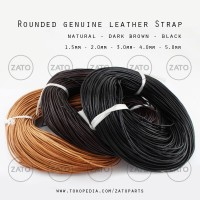 Rounded genuine leather Strap Lace - Leather tools - tali kulit