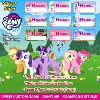 Stiker/Sticker/Label Buku Tulis/Buku Pelajaran Anak Custom Little Pony