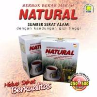 serbuk beras merah natural 250gram