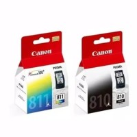 paket tinta cartridge canon pg 810 black dan 811 color