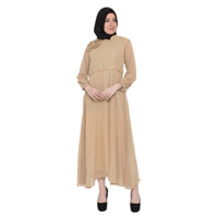 Gamis Wanita Java Seven Premium dan Elegan Warna Coklat