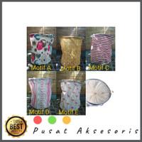 Keranjang Anti Air Laundry Bag Tempat Baju Kotor motif bathroom kamar