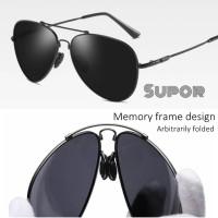 Kacamata Hitam Pria AV11 Aviator Sunglasses Flex ORIGINAL Polarized