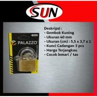 Gembok 40 mm Kuning Padlock Tas Koper Kotak