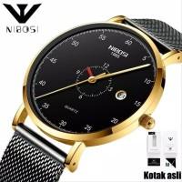 jam tangan pria NI 263 tipis Rantai Asli Stainless Steel Tid CnzH491