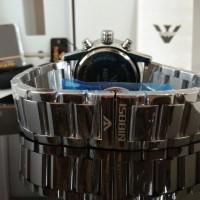 Jam Tangan pria Nibosi 2327 Silver Black - Original CnzH339