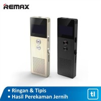 REMAX HD Dual Mic Portable Voice Recorder RP1 - Emas