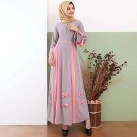 Baju Gamis Wanita Gamis Babat Kombinasi Pita Bawah 9585 - Toska