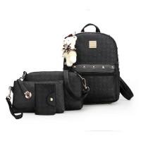 Tas Ransel Wanita Import A1662 Black 4 In 1 Backpack