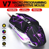 SKU-1061 MOUSE GAMING LED T-WOLF V7 (RGB) / MOUSE GAME TWOLF MURAH
