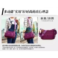 Waterproof Nylon Shoulder Bag Tas Selempang Wanita Import CS-015