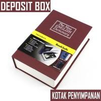 Deposit Box Kotak penyimpan Uang atau Perhiasan model Buku - Size M - M, Merah